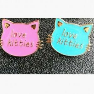 Jewelry - 🎀3/$22🎀 'Love Kitties'  |Pins|
